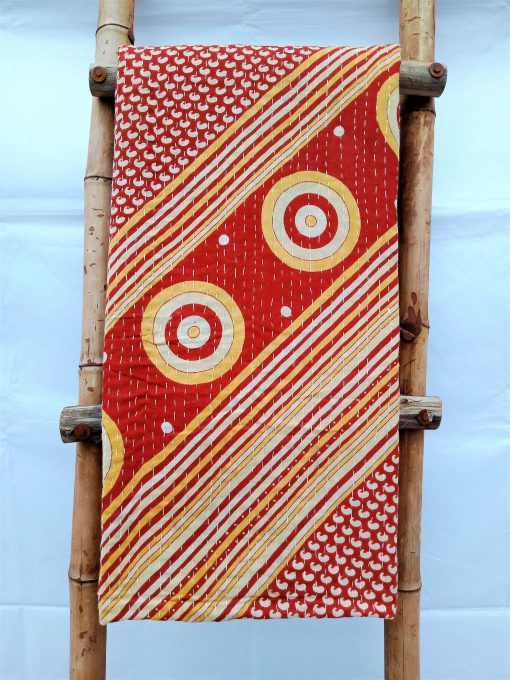 Exceptional Quality Handmade Vintage Kantha Throw