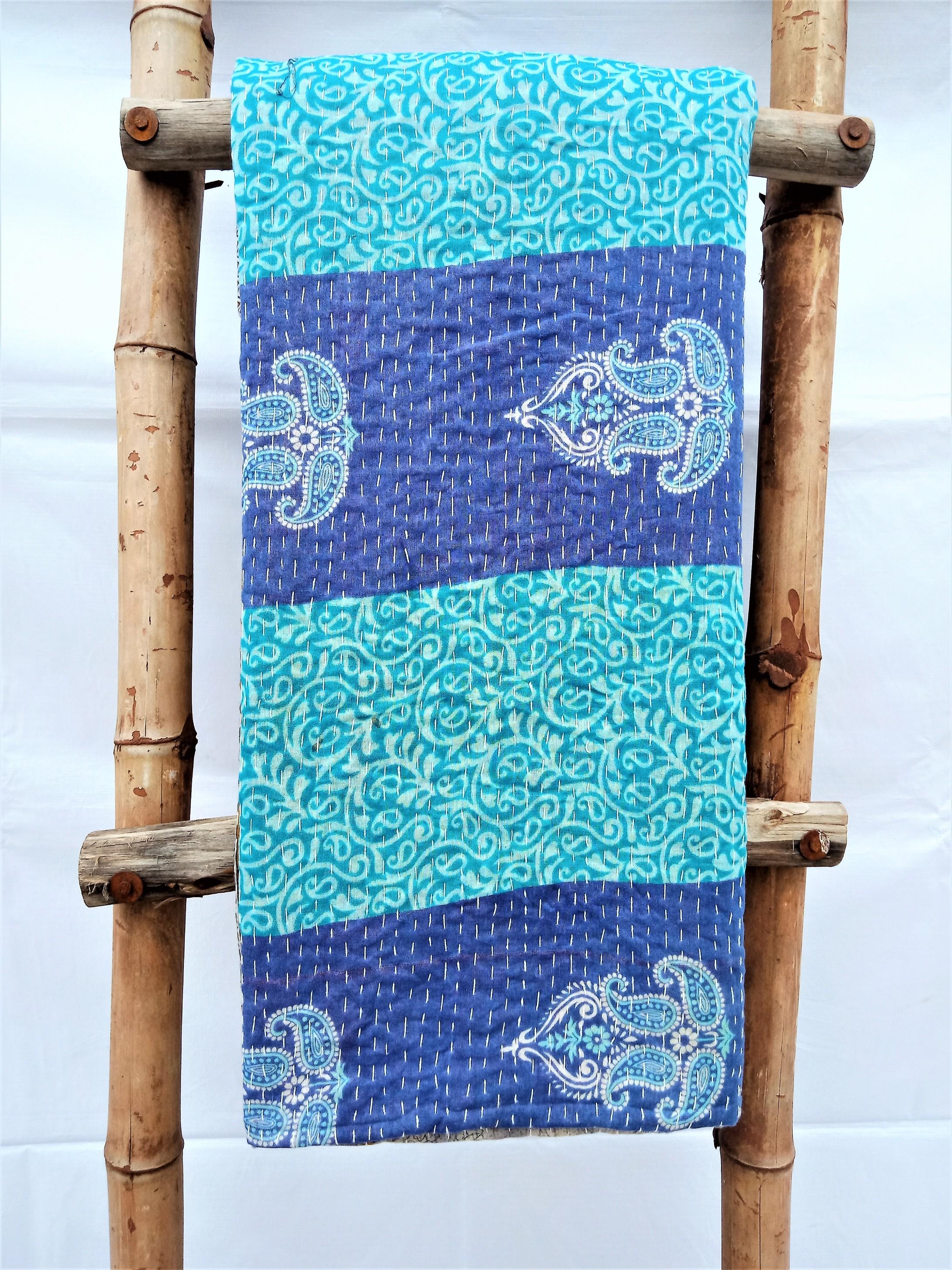 Artisan Homemade Indian Kantha Blanket