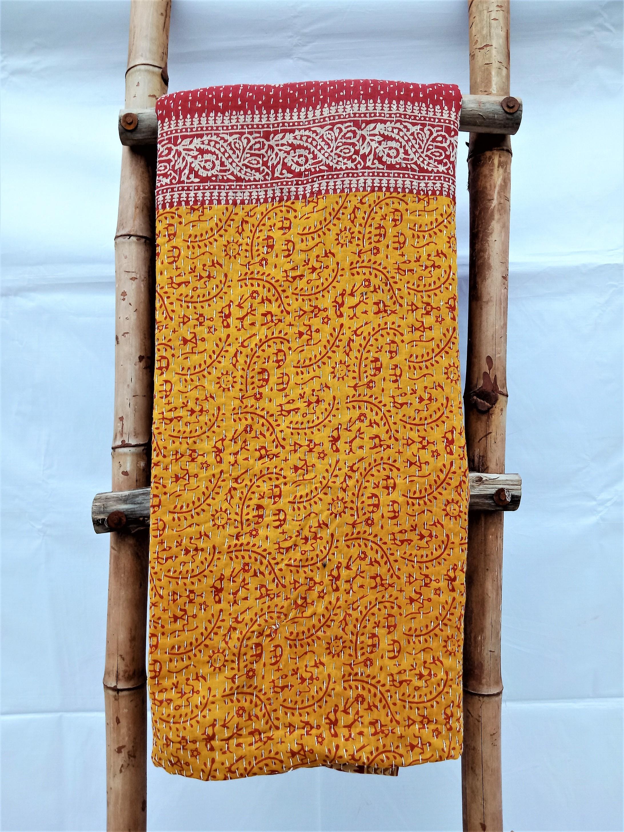3 Layered Kantha Indian Throw