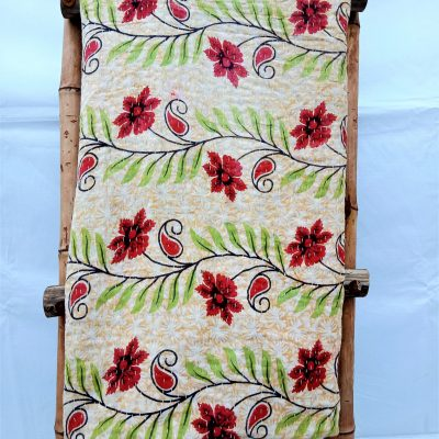 Floral Cotton Kantha Blanket by Makki