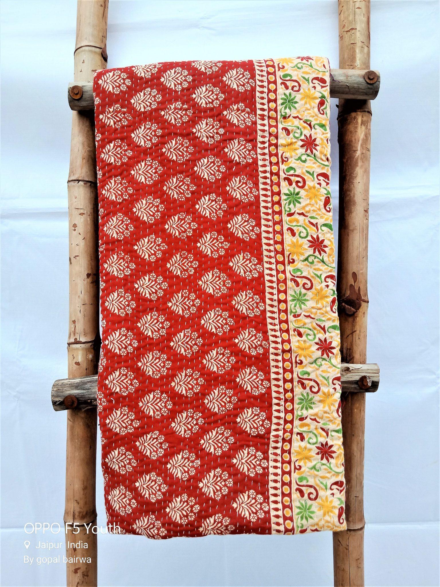Bengal Artisan Vintage Kantha Quilt