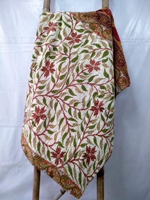 Leaf Floral cotton quilt