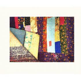 Floral Patchwork Kantha Quilt Queen