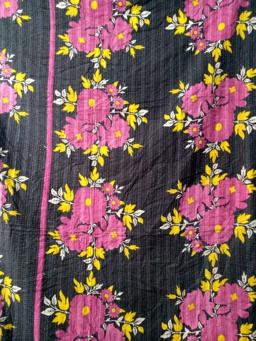 Red Roses Kantha Throw