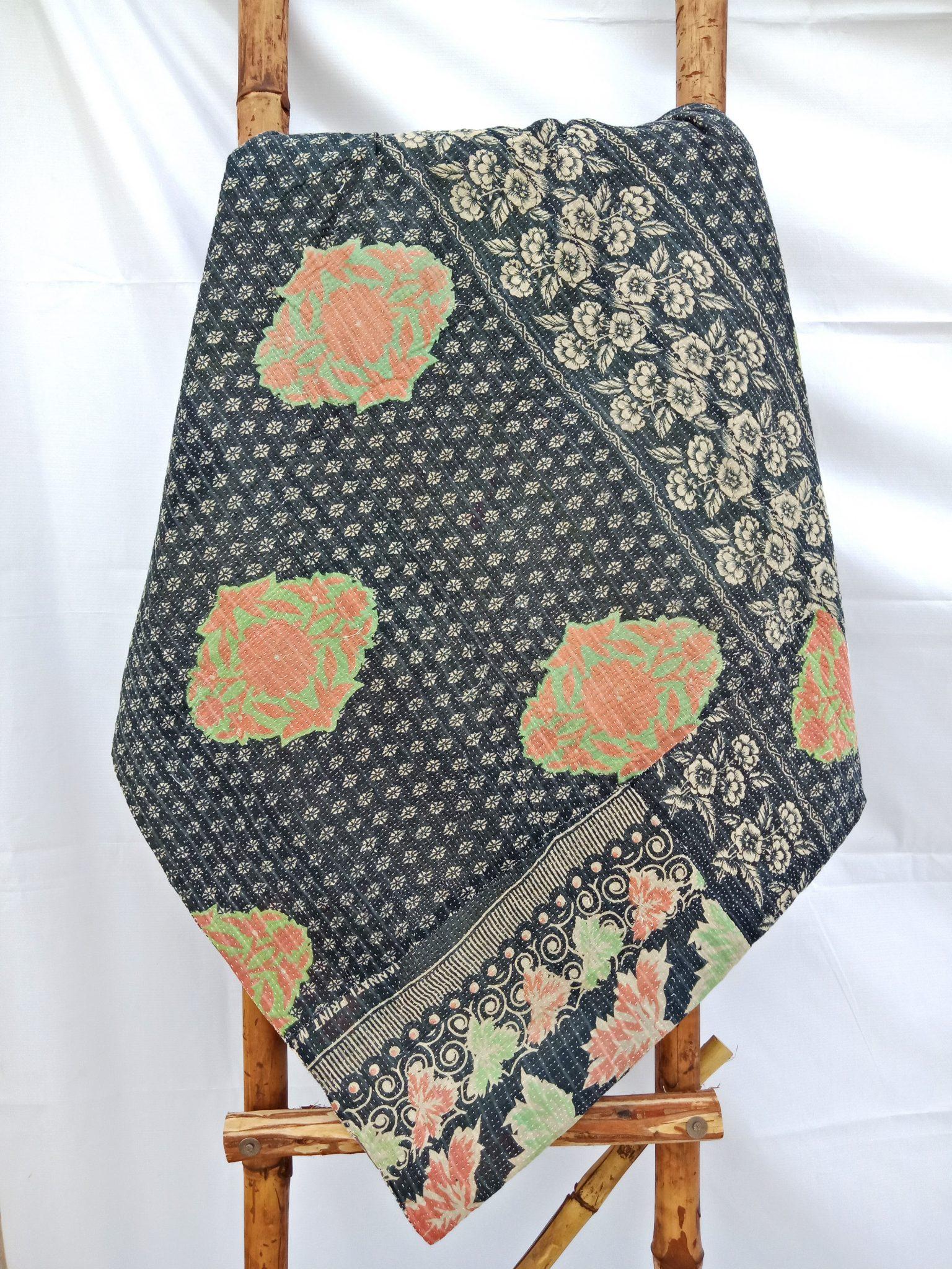 Vintage Kantha Quilt by Samira