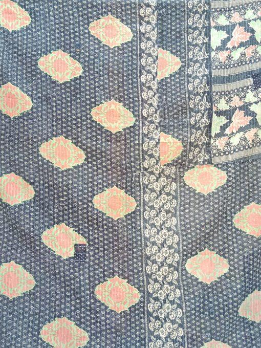 Vintage queen Kantha Quilt by Samira