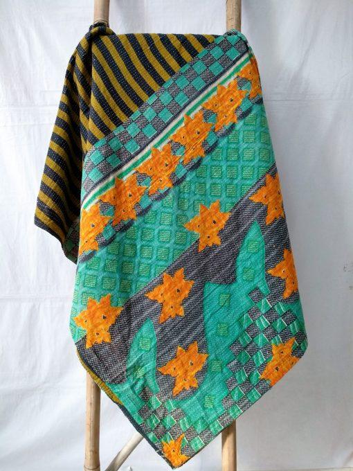 star Queen kantha quilt