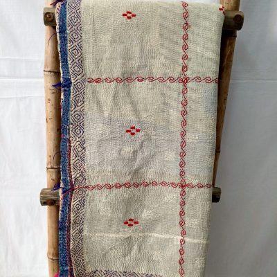 Queen Size Vintage Kantha Quilt