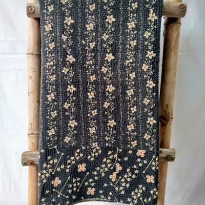 Black Constellation Vintage Kantha