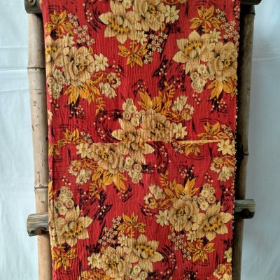 Geometric Floral Vintage Kantha Throw