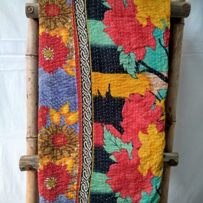 HeadWrap Indian Kantha Throw