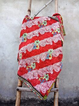 Floral Handmade Kantha Quilt Paisley Pattern