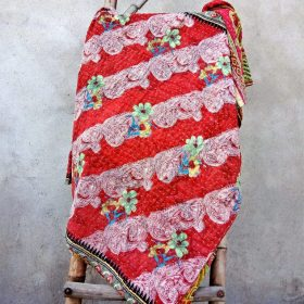 Floral Handmade Kantha Quilt Paisley Pattern