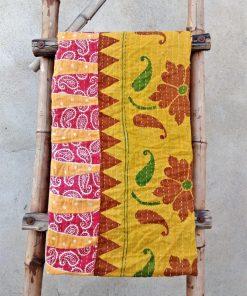 Vintage Handmade Kantha Quilt Paisley