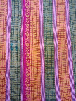 Kantha Quilt Floral Twin