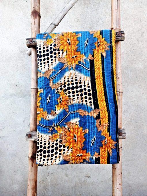 Polka Dot Handmade Kantha Blanket