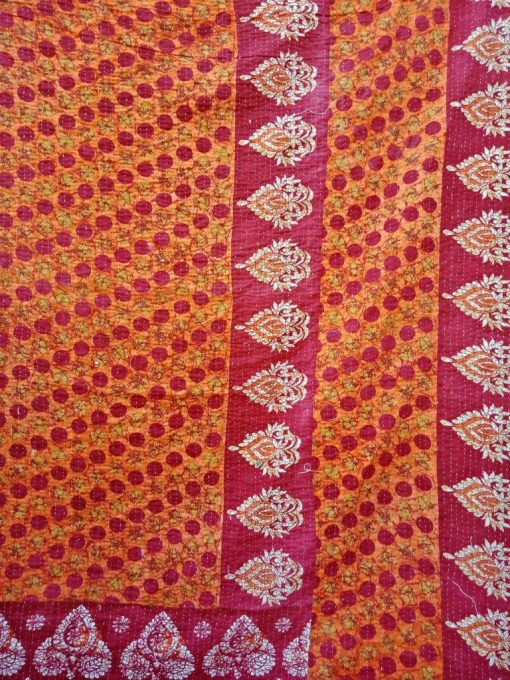 Polka Dot 3 Layered Handmade Kantha Throw