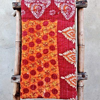 Polka Dot 3 Layered Kantha Quilt