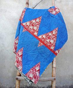 Blue Vintage Kantha Twin Throw