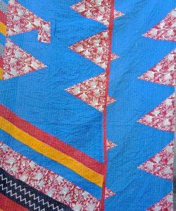 Wholesale Blue Kantha Twin Throw