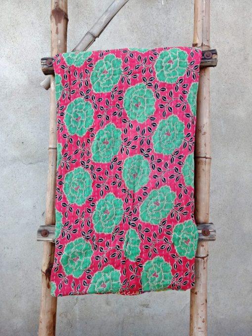 Zigzag Vintage Kantha Quilt