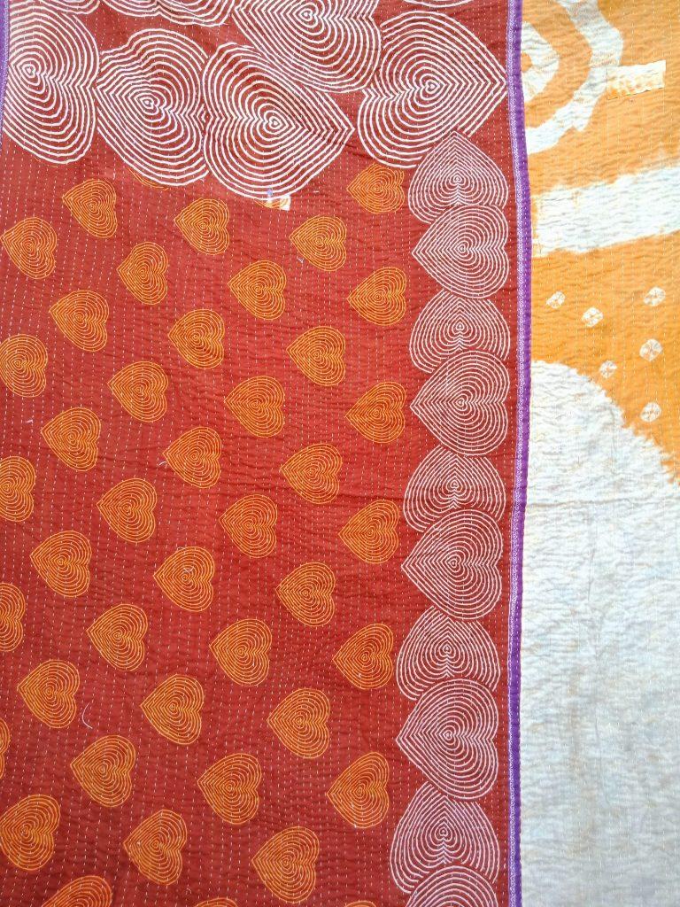 Heart Loan Vintage Kantha Quilt