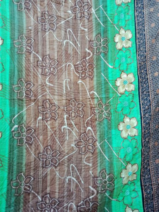 Twin Kantha Quilt Floral Throw