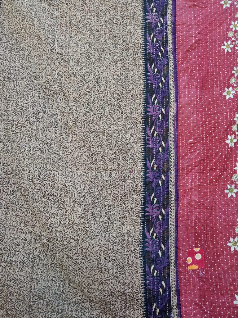 Twin Kantha Quilt Floral Throw Wholesale