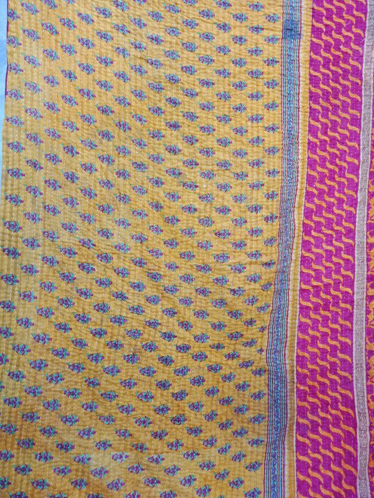 Handmade Twin Kantha Twin Quilt