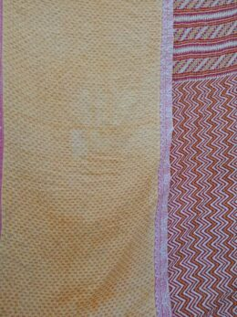 Zigzag Handmade Twin Kantha Throw