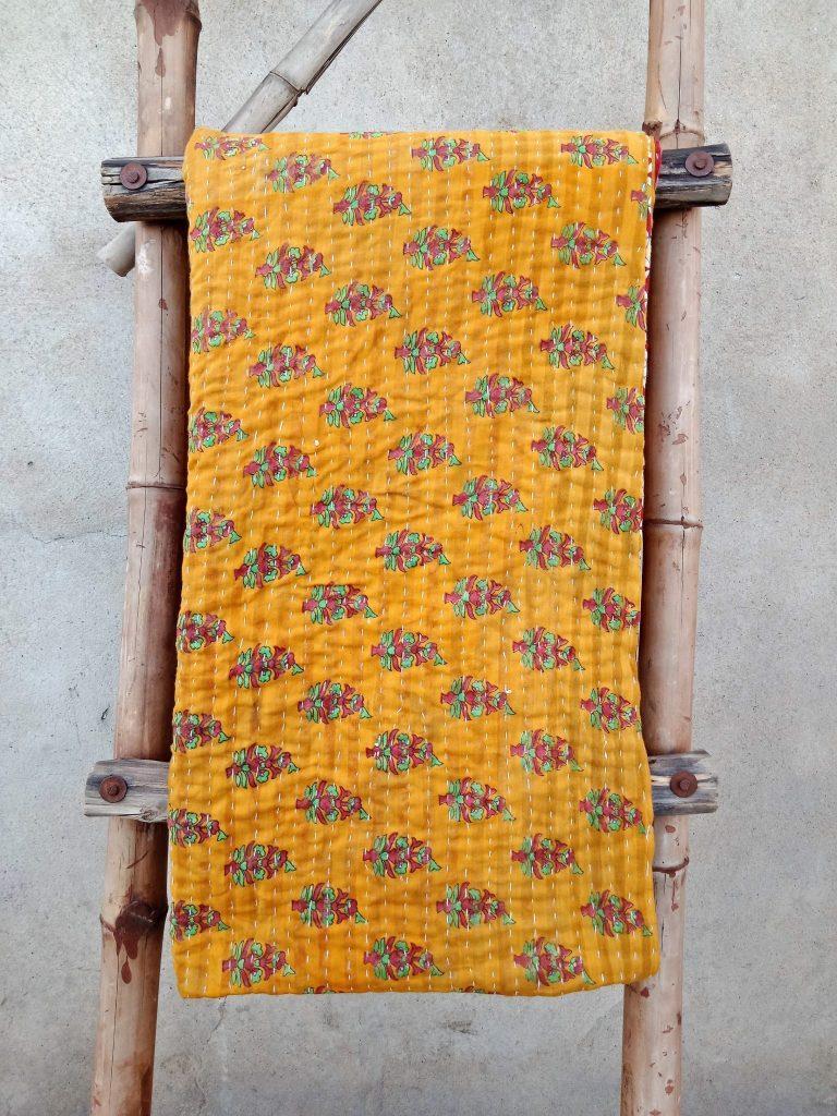 Village Artisan Kantha Twin Quilt