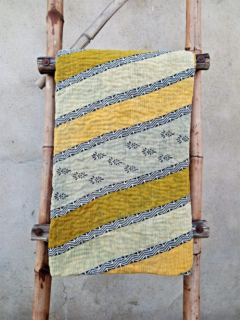 Online Reversible Kantha Twin Quilt