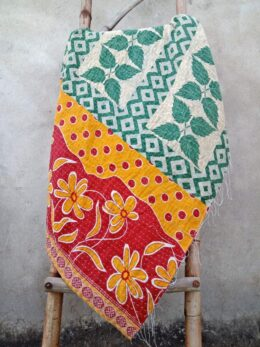 Leaves Floral Kantha Throw