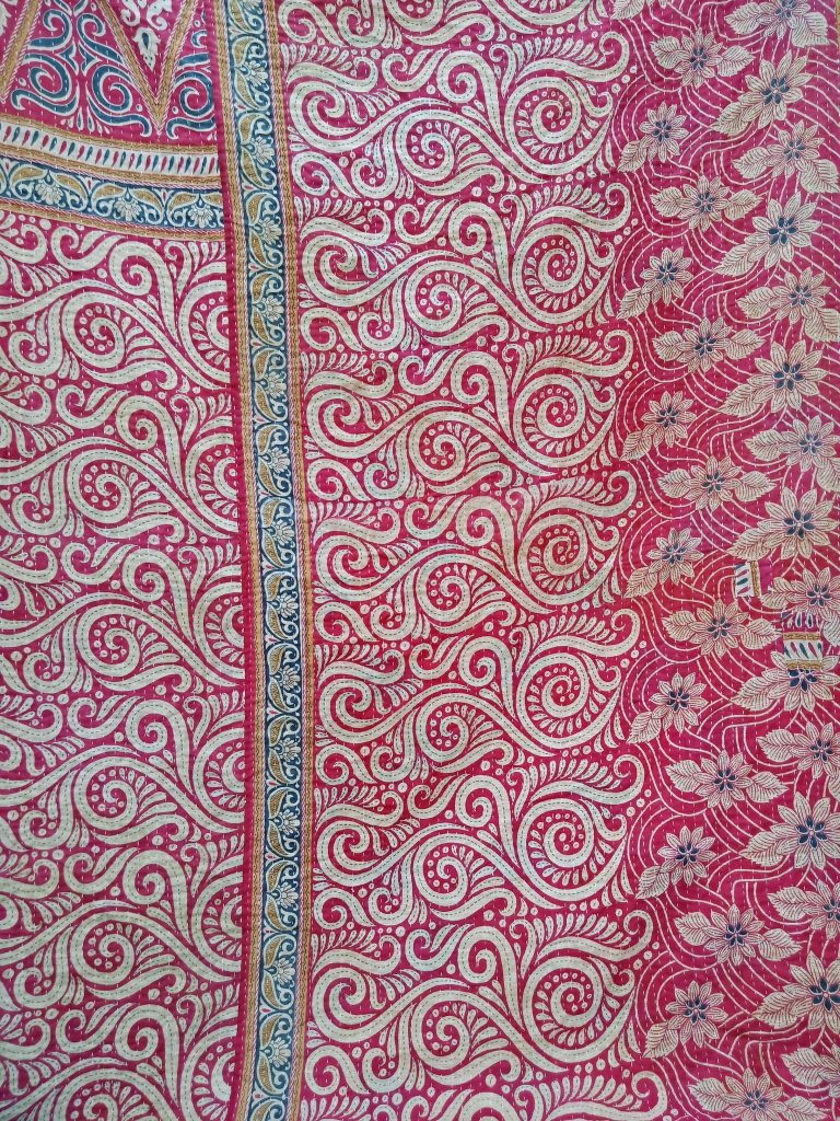 Designer Cotton Kantha Quilt Twin