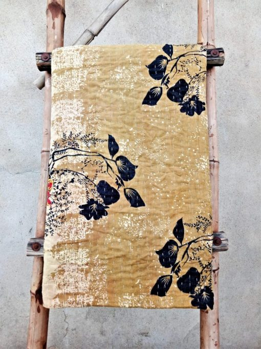 Very Rare and Unique Kantha Quilt Twin