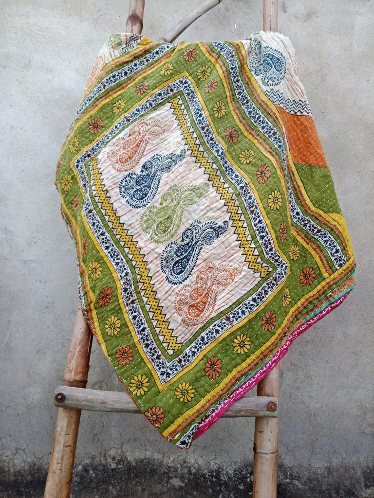 Twin Kantha Quilt Wholesale Cotton