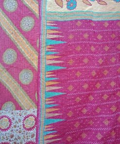 Twin Floral Kantha Quilt Indian