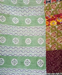 Polka Dot Vintage Kantha Twin Quilt Wholesale