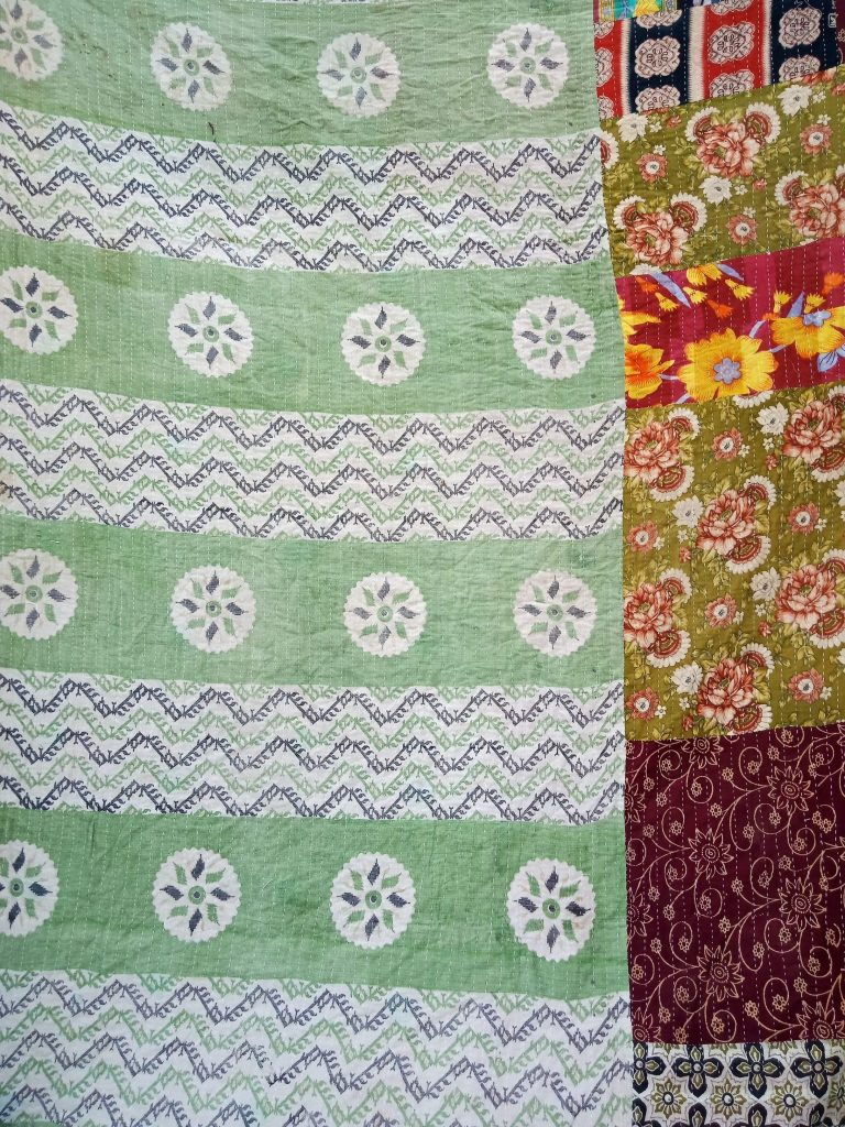 Polka Dot Vintage Kantha Twin Quilt Wholesale