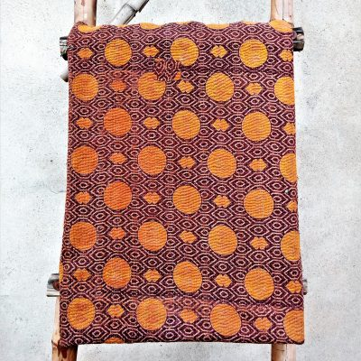 6 Layered Heavy Vintage Kantha Close Stitched Quilt Throw