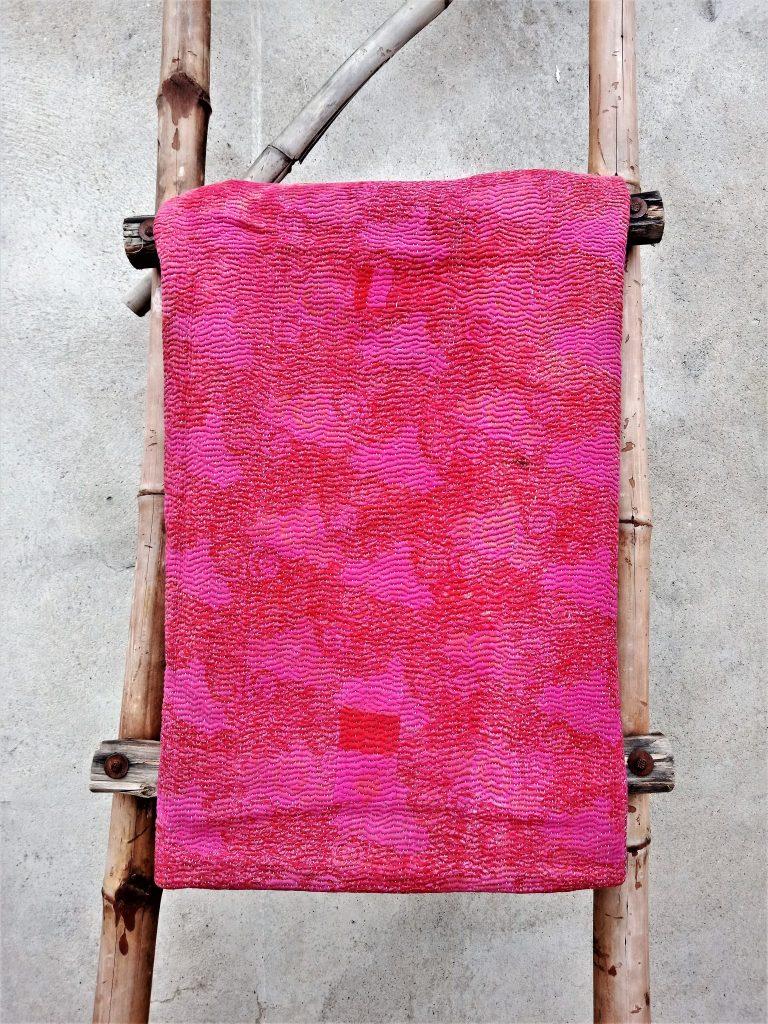 Polka Dot Exclusive Fine Stitched Vintage Kantha Quilt