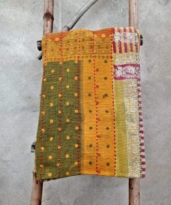 Polka Dot Heavy 6 Layered Vintage Kantha Quilt