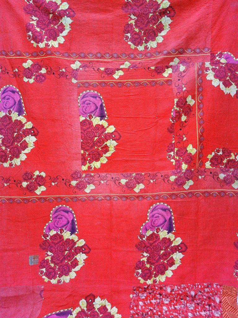 Floral Queen Handmade Kantha Quilt