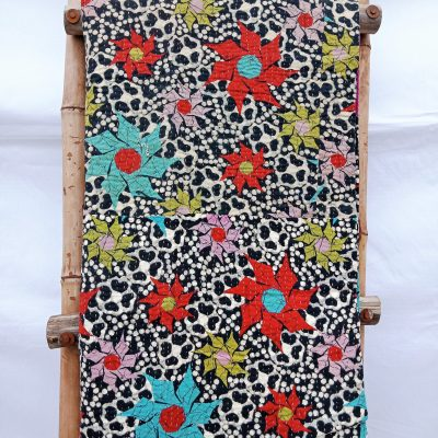 Handmade Indian Fine Stitched Kantha Quilt