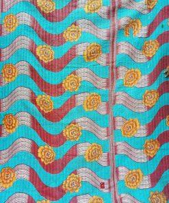 Spiral design Floral Kantha
