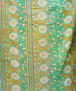 Floral Kantha Queen Size Quilt
