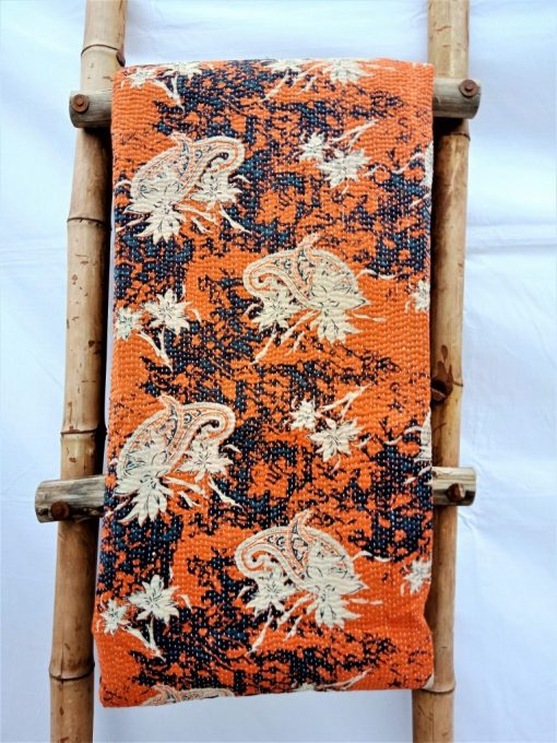 Paisley Fine Close Stitched Queen Vintage Kantha