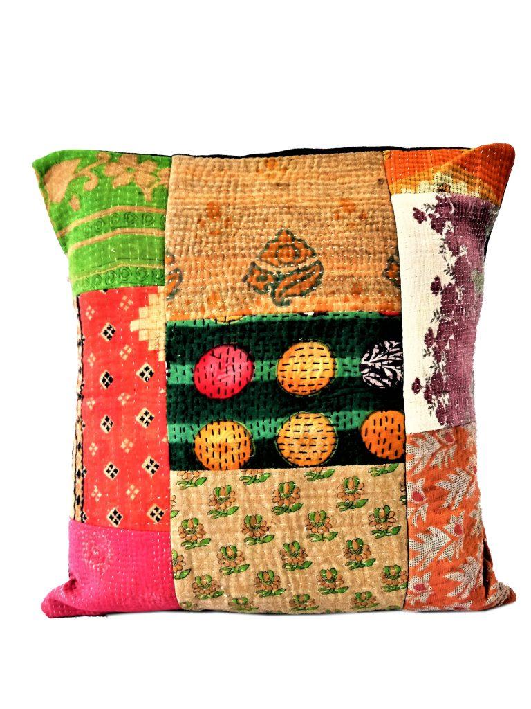 Indian Vintage Kantha Cushion Cover 50 Pcs Wholesale Lot 16x16 Throw Pillow Case