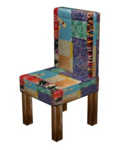 Patchwork Kantha Wooden Chair