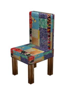 Patchwork Kantha Wooden Chair